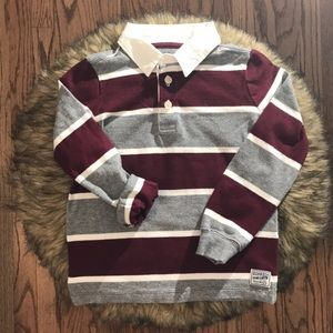 Oshkosh B'gosh Striped Long Polo Shirt. Size 2T.